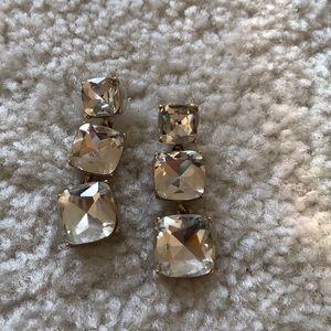 Kate Spade Three Crystal Drop Earring